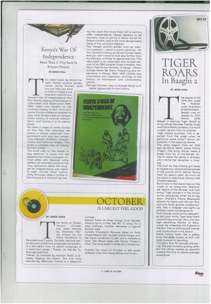 KWI Review – The Asian Weekly (April2018) – Vita Books